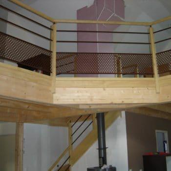 Rénovation escaliers avec nouvelle rampe